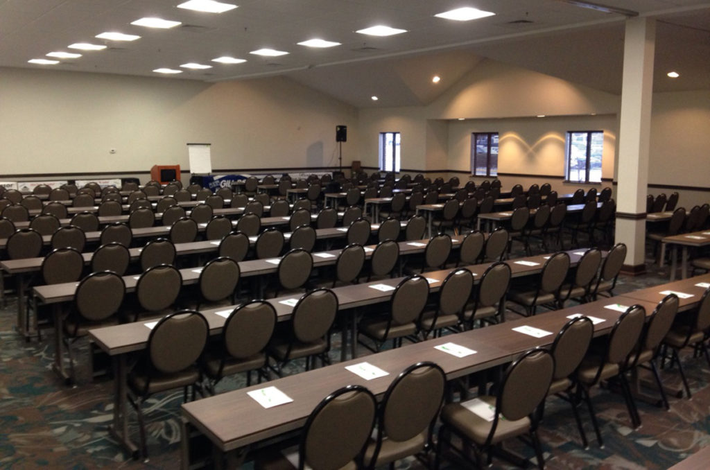 This image has an empty alt attribute; its file name is Blue-Water-Convention-Center-Port-HuronGrand-Ballroom-Classroom-Style-1024x678.jpg